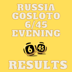 Russia Gosloto Evening Results Tuesday 27 July 2021